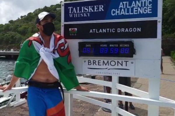Gareth Reynolds completes Talisker Whisky Atlantic Challenge