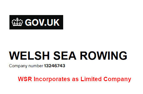 Welsh Sea Rowing incorporates as Ltd Company